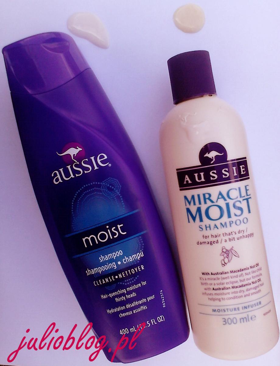 Porówanie szamponów Aussie Moist z Europy i U.S.A. Szampon AUSSIE MIRACLE MIOST SHAMPOO for hair that's dry / damaged / abit unhappy (produkowany w EU) oraz Szampon aussie moist shampoo Hair-quenching moisture for thirsty heads (produkowany w U.S.A). Szampon AUSSIE MIRACLE MIOST SHAMPOO for hair that's dry / damaged / abit unhappy (produkowany w EU) – skład z opakowania: Aqua , Sodium Lauryl Sulfate , Sodium Laureth Sulfate , Cocamidopropyl Betaine , Glycol Distearate , Sodium Citrate , Cocamide MEA , Sodium Xylenesulfonate , Parfum , Citric Acid , Sodium Benzoate , Sodium Chloride , Guar Hydroxypropyltrimonium Chloride , Glycerin , Tetrasodium EDTA , Limonene , Hydrochloric Acid , Alpha-Isomethyl Ionone , Magnesium Nitrate , Aloe Barbadensis Leaf Juice , Macadamia Ternifolia Seed Oil , CI 19140 , Methylchloroisothiazolinone , Magnesium Chloride , CI 17200 , Methylisothiazolinone , Ascorbic Acid , Sodium Sulfite , Potassium Sorbate Szampon aussie moist shampoo Hair-quenching moisture for thirsty heads (produkowany w U.S.A) – skład z opakowania: Water/EAU , Sodium Lauryl Sulfate , Sodium Laureth Sulfate , Cocamidopropyl Betaine , Glycol Distearate , Sodium Citrate , Cocamide MEA , Sodium Xylenesulfonate , Fragrance/Parfum , Aloe Barbadensis Leaf Extract , Simmondsia Chinensis (Jojoba) Seed Oil , Ecklonia Radiata Extract , Dimethicone , Citric Acid , Sodium Benzoate , Sodium Chloride , Guar Hydroxypropyltrimonium Chloride , Tetrasodium Adta , Metchylchloroisothiazolinone , Methylisothiazotchiazolinone , Yellow 5 , Red 33