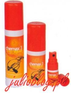 Chemax 3 czyści okulary z powłokami AR Doskonały środek do czyszczenia okularów. Przeznaczony specjalnie do szkieł z powłoką antyrefleksyjną. Można go stosować także do obiektywów kamer, aparatów fotograficznych, lornetek itp.