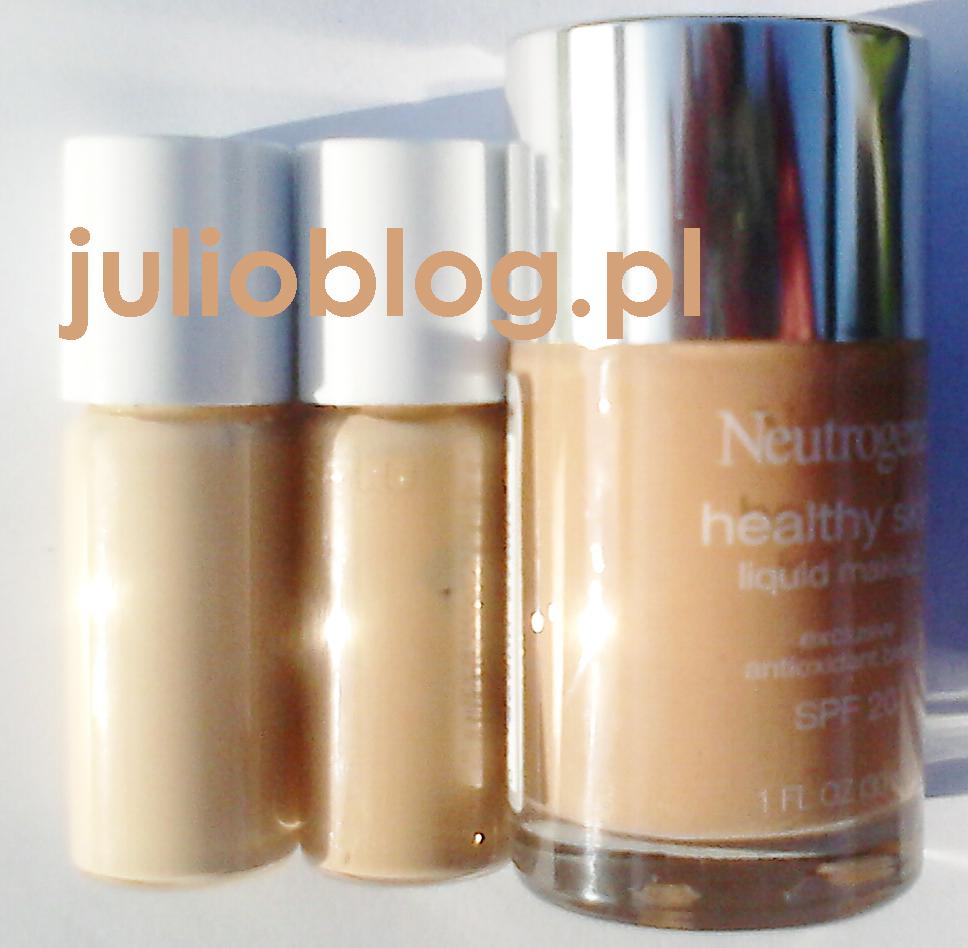 Podkład L'Oreal True Match W2,  Podkład L'Oreal True Match N3,, i Płynny Podkład do twarzy Neutrogena Healthy Skin SPF 20 w odcieniu Soft Beige 50