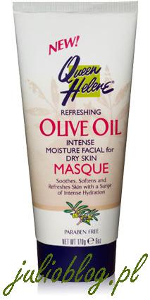 Intensywnie nawilżającą maseczkę do twarzy dla skóry suchej Queen Helene z oliwą z oliwek