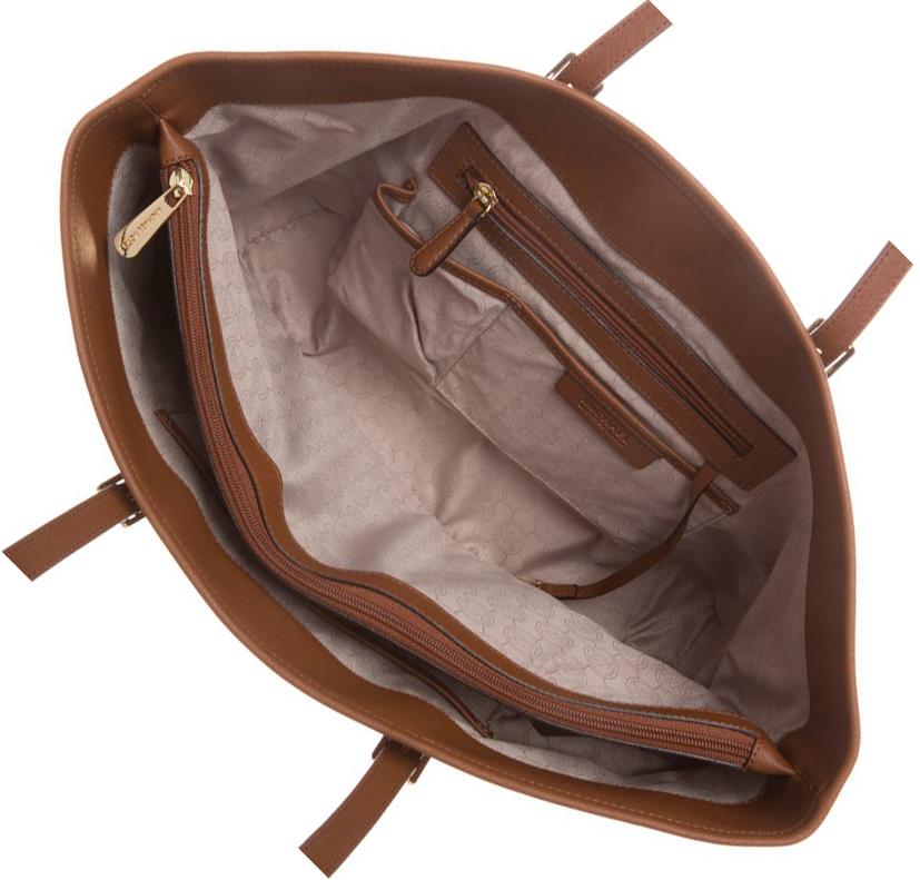 feeb3eecd281b MICHAEL Michael Kors torebka jet set travel bag w srodku przegrodki.  Wnętrze Torebki Michael Kors JET SET TRAVEL BAG