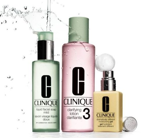 julioblog.pl clinique system 3 kroki mydło do twarzy lotion i żel nawilżający