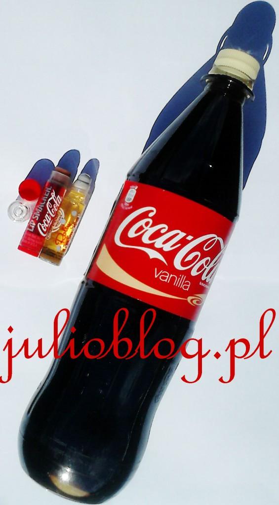 julioblog.pl_coca_cola_vanilla_1_litr_napoj_vanilla_coca_cola_dwie_pomadki_lip_smacker_smackersy_colowy_cola_vanilla