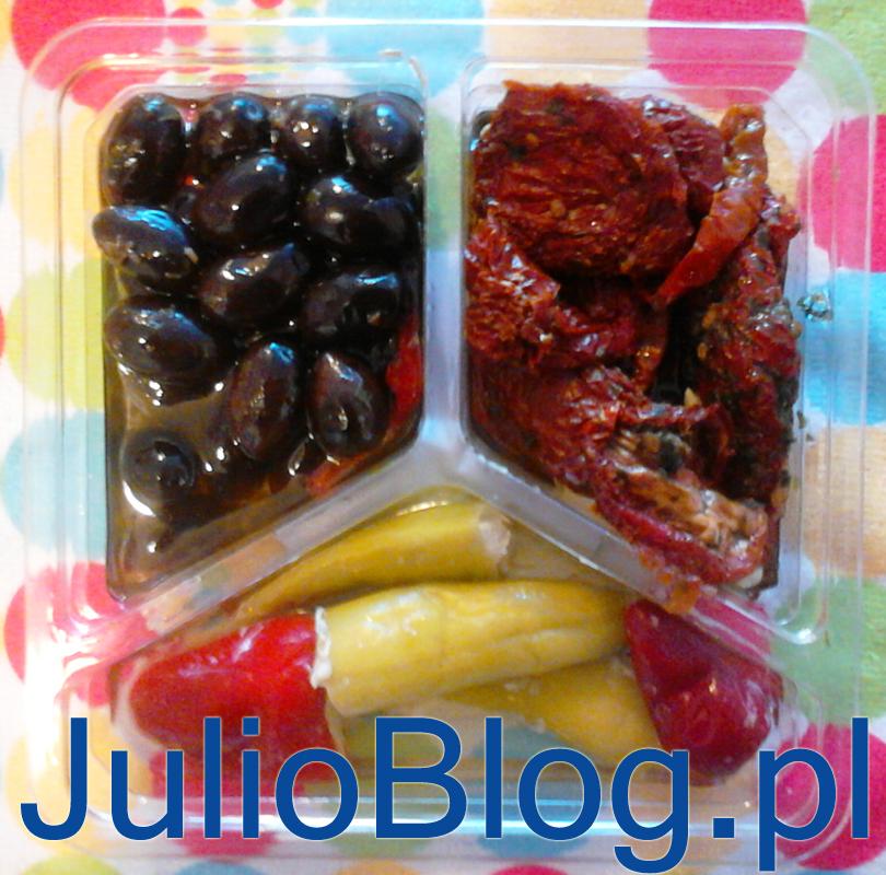 julioblog.pl_julia_goruje_gotowe_antipasti__dodatek_na_obiad_lunch_wegetarianski_Tagiatelle_bazyliowe_pesto