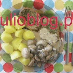 julioblog.pl. Julia gotuje: Schab z ziołami, czosnkiem i sosem pieczarkowym