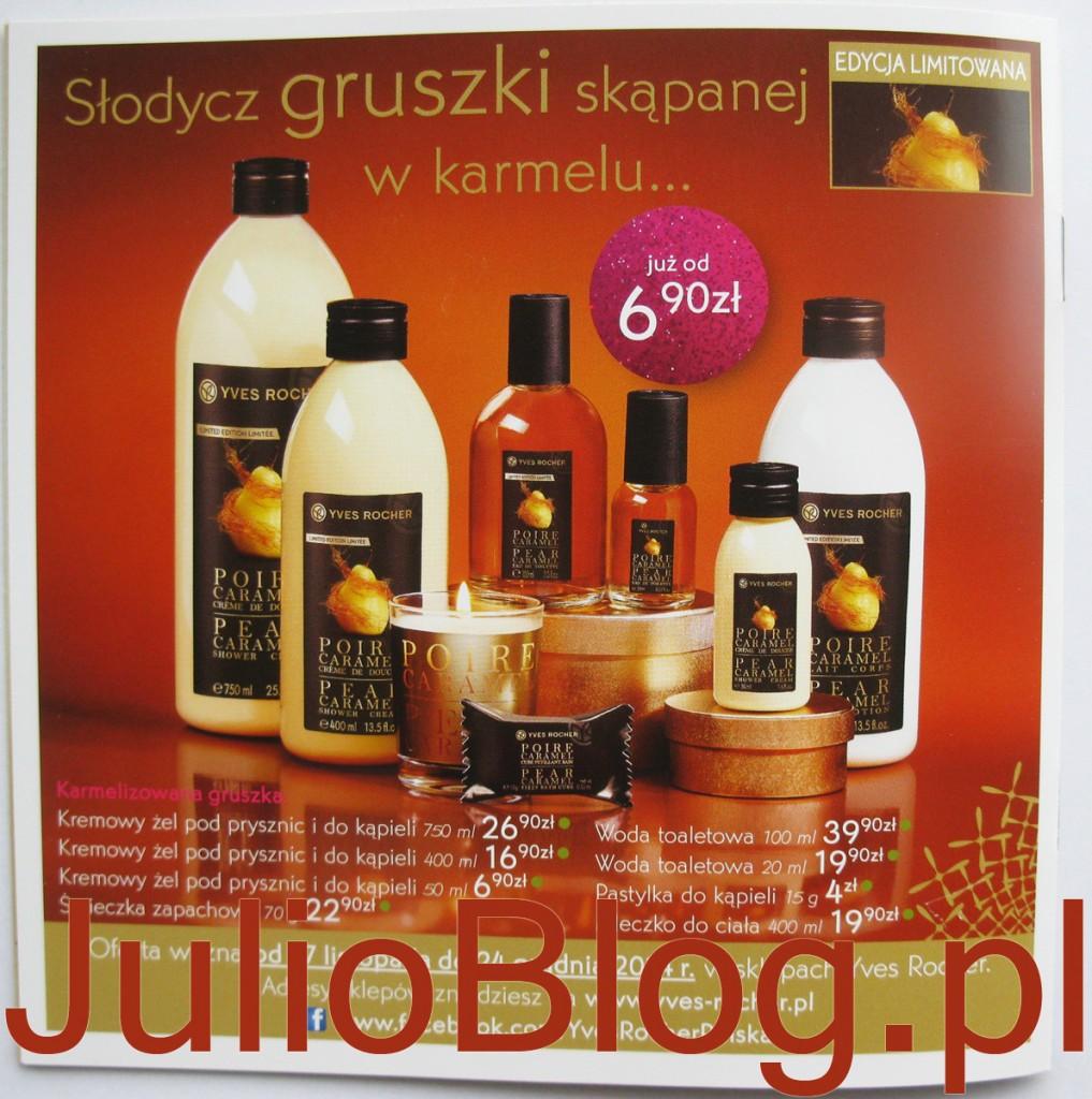 JulioBlog.pl_edycja_limitowana_yves_rocher_kosmetyki_swieta_2014_seria_gruszka_w_karmelu