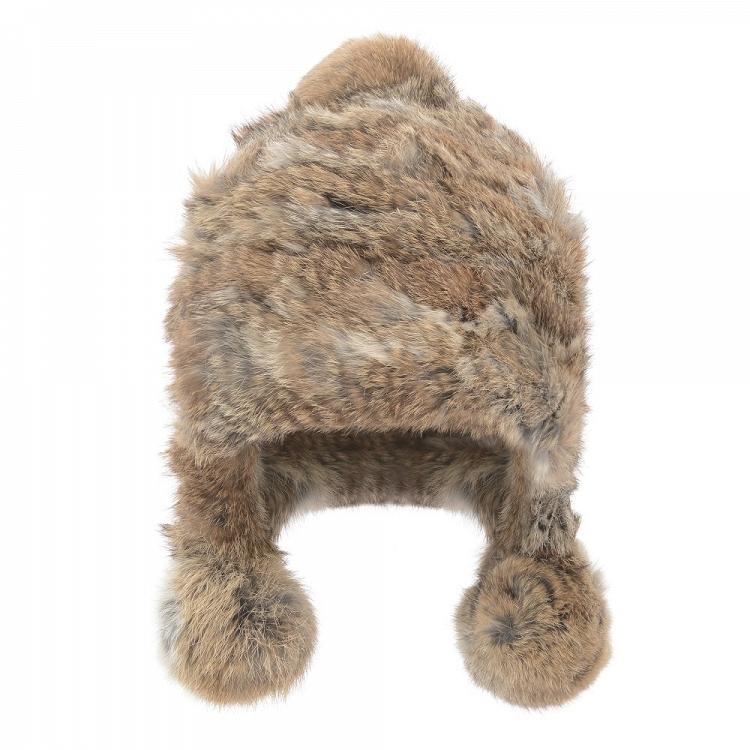 666c37a6155bc CZAPKA DAMSKA Z FUTRA OCHNIK Niezwykle ciepła czapka damska z futra królika  w naturalnym brązowym kolorze