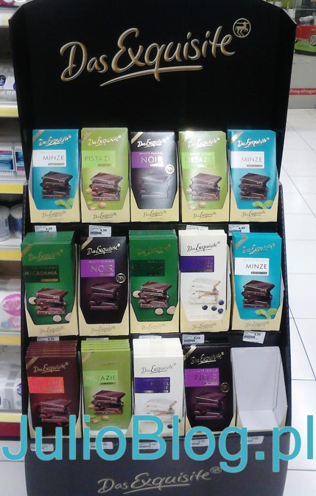 Exquisite - belgijska czekolada z Rossmana, taliczka 100g w cenie 4,99zł wyprodukowana w Belgii