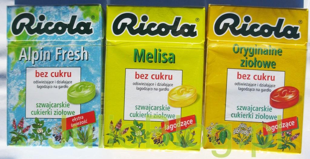 julioblog.pl_oryginalne_cukierki_ziołowe_bez_cukru_ricola_alpin_fresh_melisa_szwajcarskie_landrynki_pudełka_opis_składniki_KALORYCZNOSC