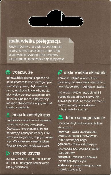 Borowinowe mydło w kostce polskiej firmy Tołpa, w linii SPA Bio anti stress do odnowy biologicznej