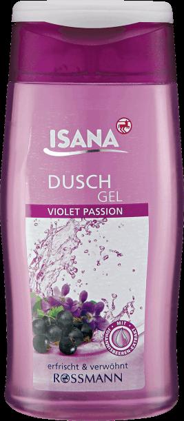 isana żel pod prysznic violet passion czarne owoce
