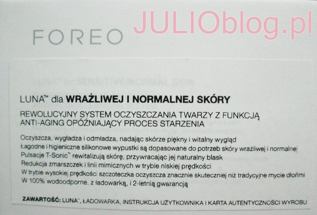 julioblog.pl-luna-foreo-dla-wrażliwej-i-normalnej-skóry-etykietka-z-opakowania-informacje-od-producenta