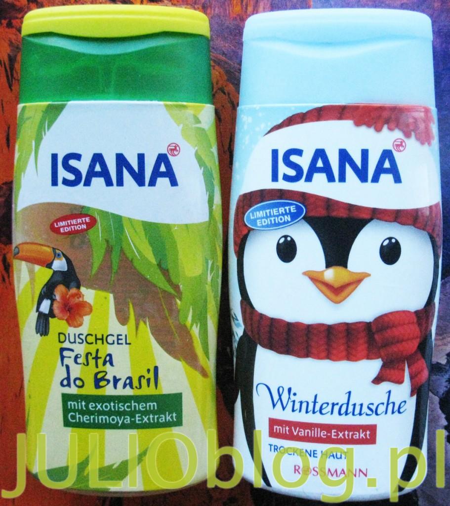 julioblog.pl-żele-pod-prysznic-isana-z-rossmana-zimowy-żel-pod-prysznic-z-ekstraktem-z-wanilii-Fest-do-Brasil-rossman-opakowania-300ml-pingwin-tukan-opinia-recenzja
