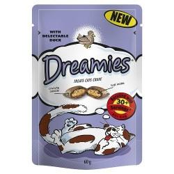 Chrupiące ciasteczka z nadzieniem dla kota – Dreamies. Mars Polska. Ciasteczka Dreamies, są chrupiące na zewnątrz i kremowe wewnątrz. Kremowe nadzienie wewnątrz chrupiącej skorupki sprawiają, że koty wprost nie mogą się im oprzeć. Pakowane w torebeczki ze strunowym zamknięciem, które utrzymuje smakołyki w świerzości. Dreamies dostępne są w 6 smakach: z łososiem, z wołowiną, z kurczakiem z serem z kaczką z indykiem Chrupiące ciasteczka z nadzieniem dla kota – Dreamies.