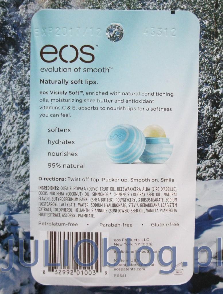 julioblog.pl-zakupy-julii-balsam-do-ust-eos-visibly-soft-vanilla-mint-waniliowo-miętowy-sztyft-butik4girls.pl-usda-organic-opakowanie-opis-składniki