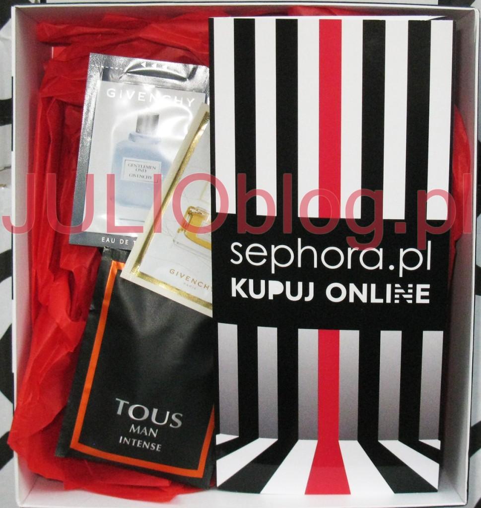 julioblog.pl-zakupy-julii-przesyłka-ze-sklepu-internetowego-sephora-online-pudełko-pakowanie-prezentów-openbox-blog-próbki-zapachów-paragon-formularz-zwrotu-produktu