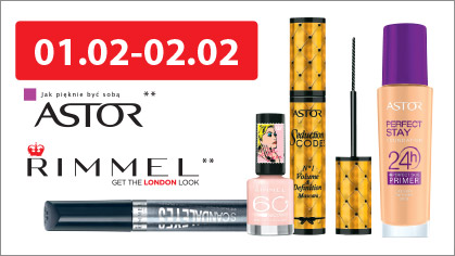 julioblog.plpromocja zniżka rabat gratis dwa kosmetyki plus jeden za 1 grosz makijaż kolorówka hebe luty 2015 astor rimmel 1.02 i 2.02 2014