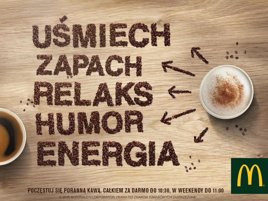 julioblog.pl mc donalds darmowa kawa promocja zdjęcie z facebooka uśmiech zapach relaks humor energia