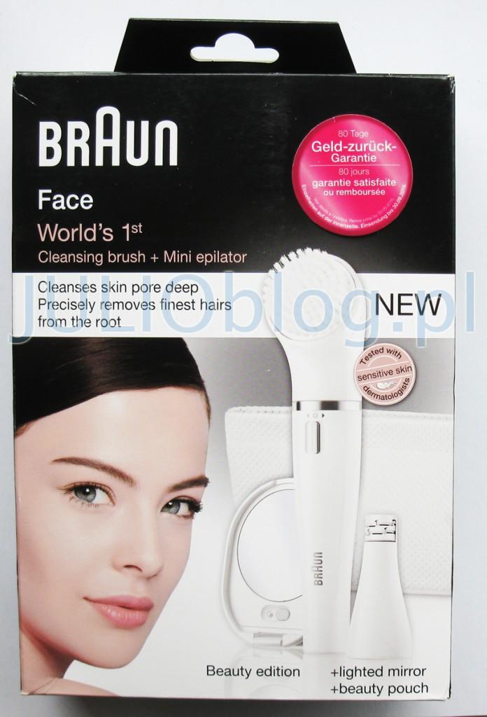 Braun Face oferuje dwa zabiegi w jednym – wystarczy zmienić nasadki. Depilator do twarzy precyzyjnie usuwa włoski u nasady, zaś szczotka do oczyszczania twarzy głęboko oczyszcza pory. Chcesz usunąć włoski z podbródka, górnej wargi i czoła lub wyregulować brwi? W tych delikatnych miejscach liczy się precyzja. Eleganckie, kompaktowe wzornictwo urządzenia Braun Face sprawia, że można go używać jak tuszu do rzęs, co zapewnia absolutną kontrolę i precyzję. Braun Face usuwa nawet najkrótsze i najcieńsze włoski, pozostawiając skórę gładką do 4 tygodni. Depilacja przebiega tak delikatnie, że nawet się nie zorientujesz, kiedy urządzenie usunie wszystkie włoski. Wyjątkowo wąska głowica ma 10 mikrootworów, które delikatnie wychwytują nawet najcieńsze włoski o długości 0,02 mm. Urządzenie wykonuje do 200 depilujących ruchów na sekundę, działając znacznie szybciej i dokładniej niż ręczna pęseta. Oczyszczanie twarzy do 6 razy skuteczniej niż ręczne mycie Delikatnie przywraca skórze twarzy niezwykłą czystość i promienność, usuwając makijaż i zanieczyszczenia. Szczotka do oczyszczania twarzy Braun Face wykonuje setki mikrooscylacyjnych ruchów, zapewniając do 6 razy lepsze rezultaty niż ręczne mycie. Złuszczanie i usuwanie martwych komórek naskórka stymuluje regenerację skóry. Urządzenie Braun Face jest w 100% wodoodporne, dzięki czemu można delikatnie i dokładnie oczyszczać twarz podczas kąpieli pod prysznicem. Usunięcie martwego naskórka zanieczyszczeń przygotowuje skórę do wchłonięcia kremów i balsamów. Nie ma w tym nic dziwnego – urządzenie zostało przetestowane przez dermatologów i może być stosowane nawet przez osoby o wrażliwej skórze.