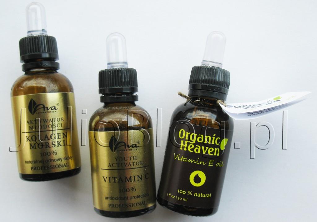 julioblog.pl-ava-aktywator-młodości-witamina-c-kolagen-morski-100-procent-naturalny-opinia-recenzja-opakowania-zużyte-opinia-recenzja-nowy-zakup-organic-heaven-olejek-naturalny-witamina-E