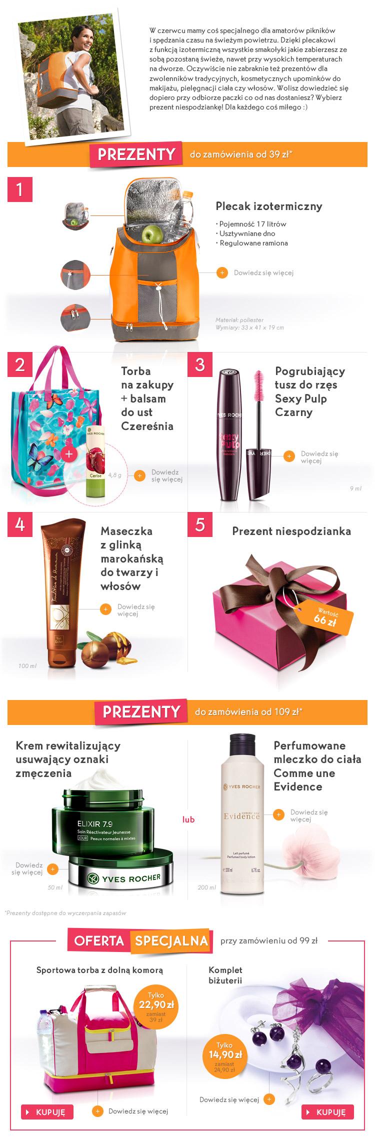 julioblog.pl yves rocher sklep internetowy oferta czerwiec 2015 prezenty do zakupów i prezent niespodzianka