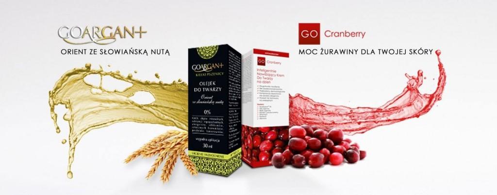 Nova Kosmetyki GOARGAN orient ze słowiańską nutą GO Cranberry moc żurawiny dla twojej skóry Naturalnie z pudełka