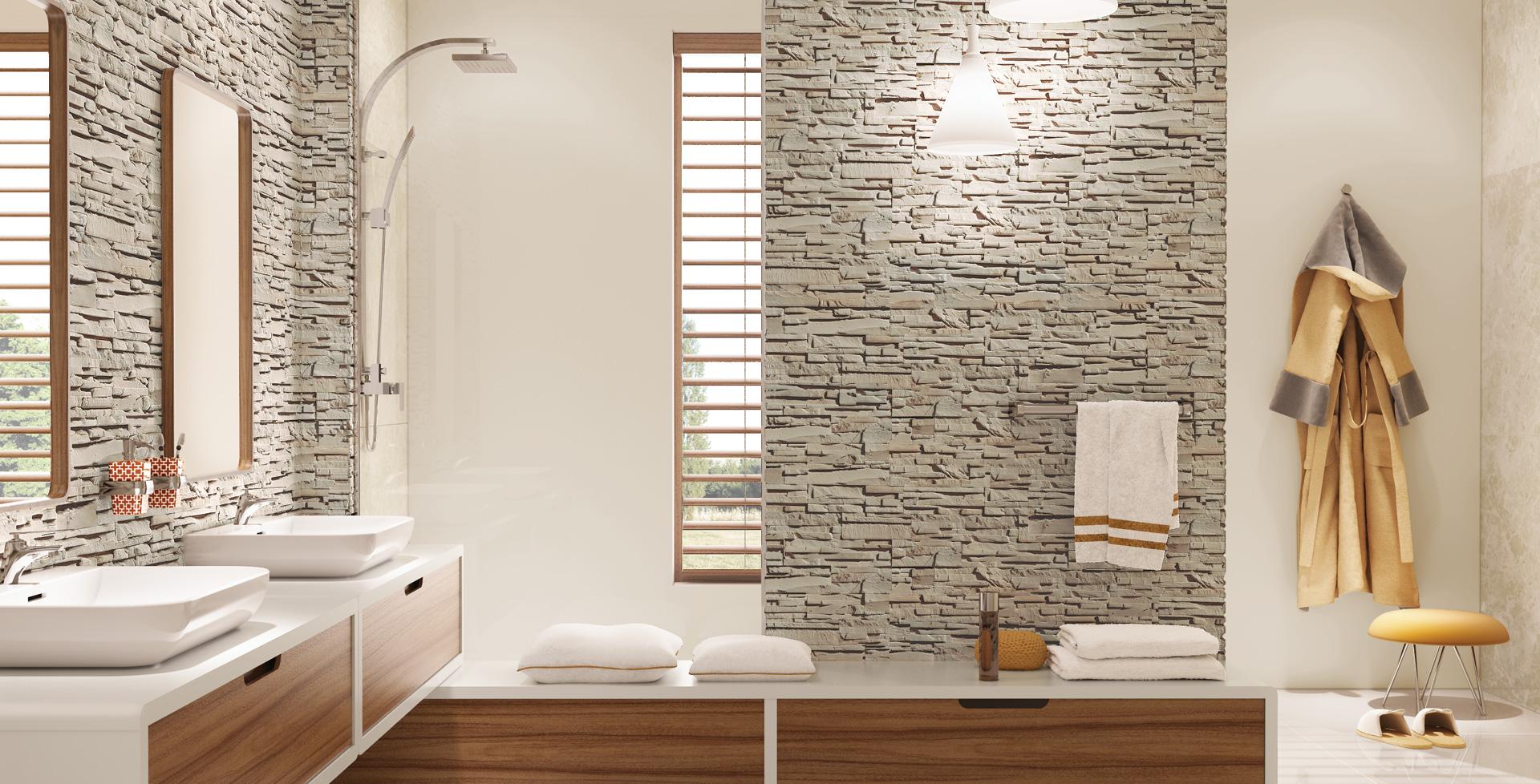 kamień w łazience