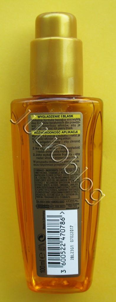 julioblog.pl-do-włosów-eliksir-odżyczy-elseve-loreal-paris-magiczna-moc-olejków-100ml-olejek-etykietka-sposob-użycia-składniki-skład