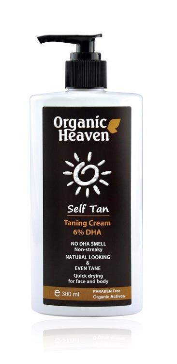 Samoopalający krem nawilżający Organic Heaven Self Tan Taning Cream 6 DHA