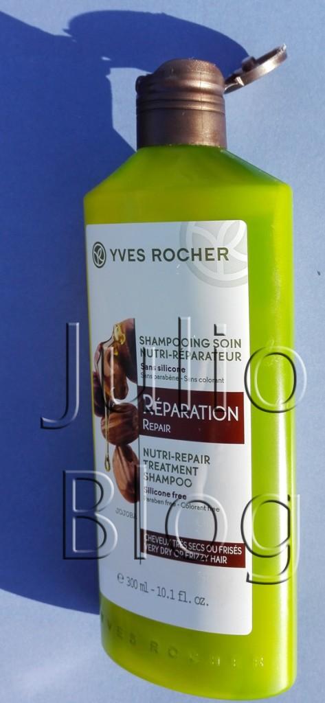 julioblog.pl-blog-julii-recenzje-kosmetyków-Szampon-odbudowujący-Roślinna-pielęgnacja-włosów-Yves-Rocher-300ml-reperation-opakowanie-dozownik-opinia-recenzja