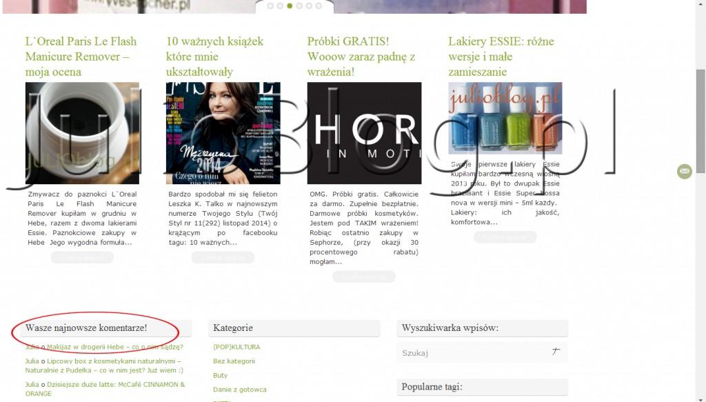 julioblog.pl-blog-julii-zmiany-na-stronie-komentarze-czytelników-na-stronie-głównej