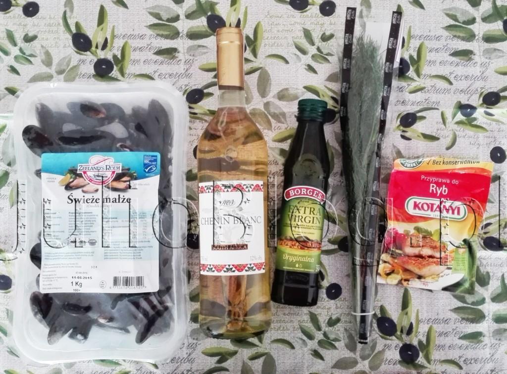 julioblog.pl-blog-julii-Białe-wino-Żabka-MI-Chenin-Blanc-Oryginalna-Oliwa-z-oliwek-z-pierwszego-tłoczenia-Extra-Virgin-Borges-przyprawa-do-ryb-kotanyi-małże-mule-jadalne-przepisy-kulnarne