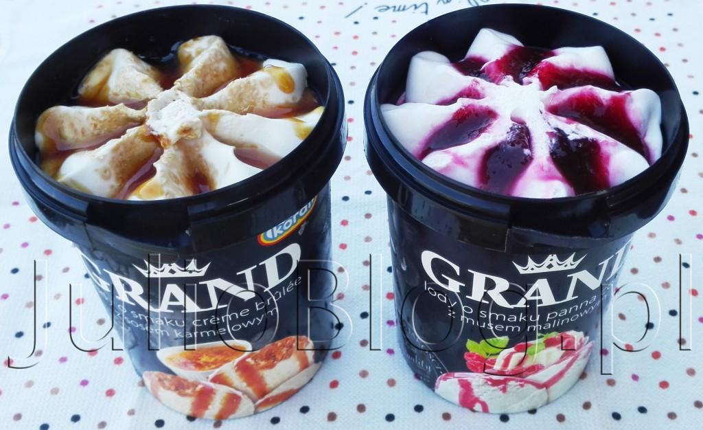 julioblog.pl-blog-julii-opinie-Lody-o-smaku-creme-brulee-z-sosem-karmelowym-i-cukrem-karmelizowanym-Grand-Koral-Panna-Cotta-z-musem-malinowym