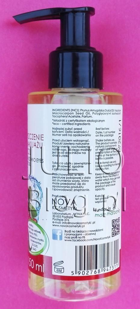 julioblog.pl-blog-julii-recenzje-kosmetyków-Olejek-do-demakijażu-GoCranberry-NOVA-Kosmetyki-do-oczyszczania-każdego-typu-skóry-skład-składniki-sposób-użycia-opakowanie-150ml