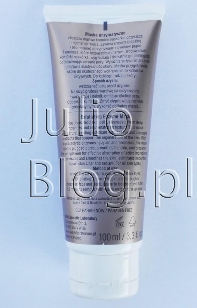 julioblog.pl-blog-julii-recenzje-kosmetyków-polskie-kosmetyki-AVA-Beauty-Home-Care-age-control-professional-maska-enzymatyczna-złószcza-regeneruje-wygładza-skórę-skład-składniki