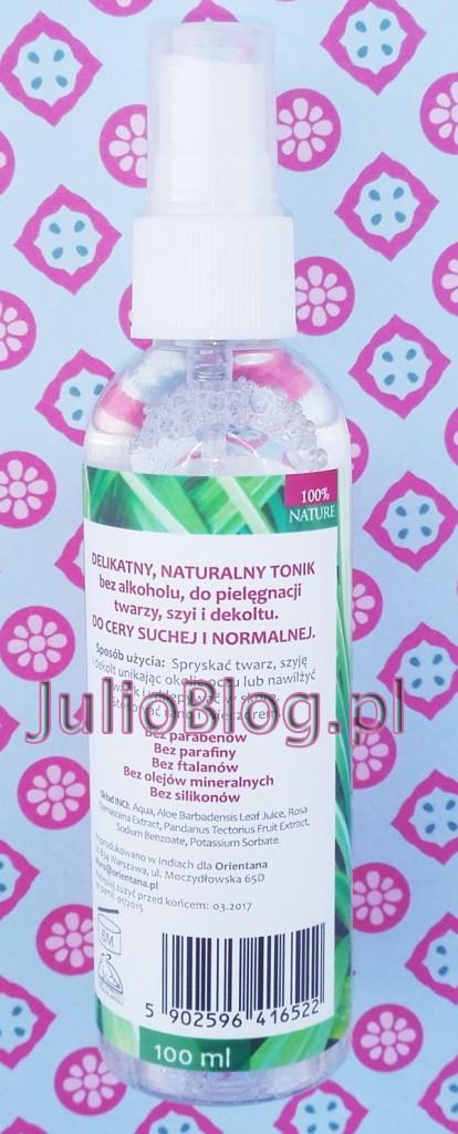 julioblog.pl-blog-julii-orientana-tonik-do-twarzy-róża-japońska-pandan-100ml-bez-alkoholu-atomizer-sposób-użycia-składniki-skład-INCI-opis-info