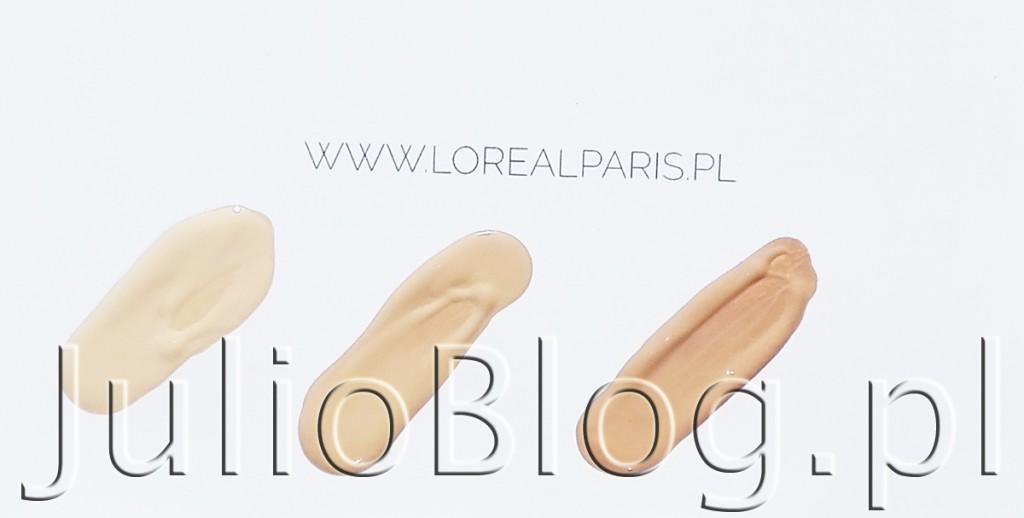 Podkład True Match w nowej formule od L'Oreal Paris. Generalnie bardzo lubię kosmetyki do makijażu L'Oreal. Zawsze uważałam, że są dobrej jakości, a do tego odpowiadają mi kolorystycznie. W mojej makijażowej kosmetyczce bez trudu można znaleźć podkład, róż czy puder L'Oreal Paris, które zużywam i dokupuję na bieżąco odkąd byłam nastolatką :) Nowy podkład L'Oreal True Match to nie tylko zmiana szaty graficznej opakowań, ale głównie formuły, która ma jeszcze lepiej dopasowywać się do odcienia naszej cery i stapiać ze skórą. Bardzo mnie to przekonuje. W podkładzie szukam przede wszystkim naturalnego ujednolicenia cery i złudzenia perfekcyjnej skóry przez cały dzień :) Podkłady L'Oreal Paris True Match w nowej ulepszonej formule. 30ml w cenie 58.99zł. Odcnienie: 1.N IVORY - neutralny odcień dla jasnej karnacji i jednocześnie najjaśniejszy kolor w całej gamie L'Oreal True Match, 2.N VANILLA - ton ciemniejszy od 1.N odcień dla jasnej karnacji w tonacji neutralnej, oraz 3.R/3.C ROSE BEIGE - chłodny odcień dla jasnej karnacji wpadający w różowe tony. Podkłady L'Oreal Paris True Match w nowej ulepszonej formule Odkryj 3 Sekrety nowej formułu L'oreal True Match: 1. Nowe pigmenty jeszcze lepiej dopasowane do odcienia. Nowa formula True Match została wzbogacona o trzy nowe hybrydowe pigmenty. Dzieki temu podklad True Match osiaga jeszcze lepsza precyzję kolorystyczną. Nowe pigmenty efektywnie dopasowują się do cieplej, zimnej i neutralnej tonacji skóry. 2. Olejki dla idealnego stapiania się ze skórą Rewolucyjne połączenie czterech olejków eterycznych dla wyjątkowego komfortu aplikacji i równomiernego wykończenia makijażu. Zapewnia doskonale rozprowadzenie podkładu, łatwosc użytkowania i wyjątkowo sensoryczne doświadczenie. 3. Nowy standard nawilżenia dla komfortu skóry Nowa, kremowa formuła True Match zawiera kombinację gliceryny, witaminy E i B5 dla wyjątkowego komfortu. Pozostawia skórę gładką i miękką w dotyku. można dopasować podkład do jasnej, średniej i ciemnej karnacji, 