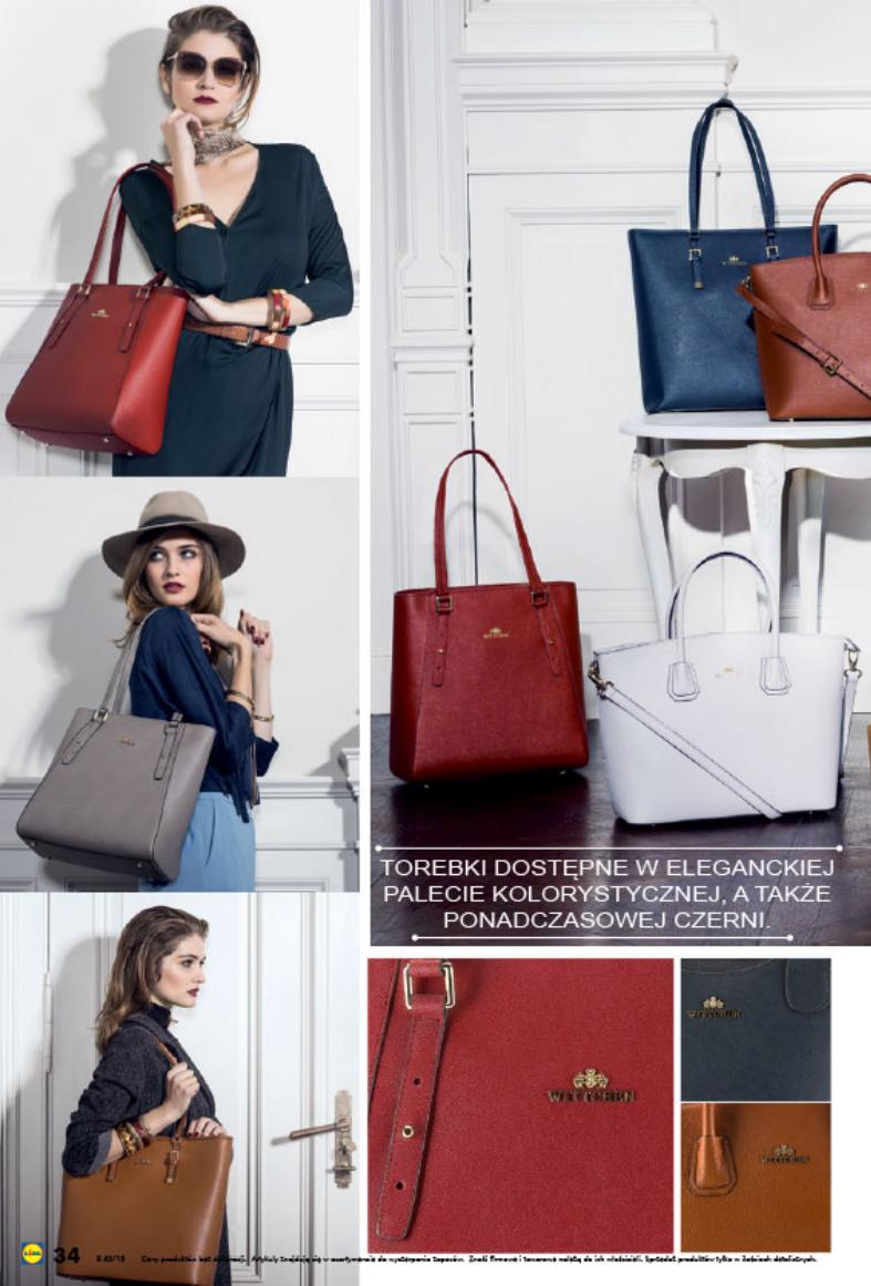 d01694834c914 Od soboty 17 października 2015 w sklepach Lidl dostępne będą torebki  polskiej marki WITTCHEN w cenie 269zł. Do wyboru 32 wzory.