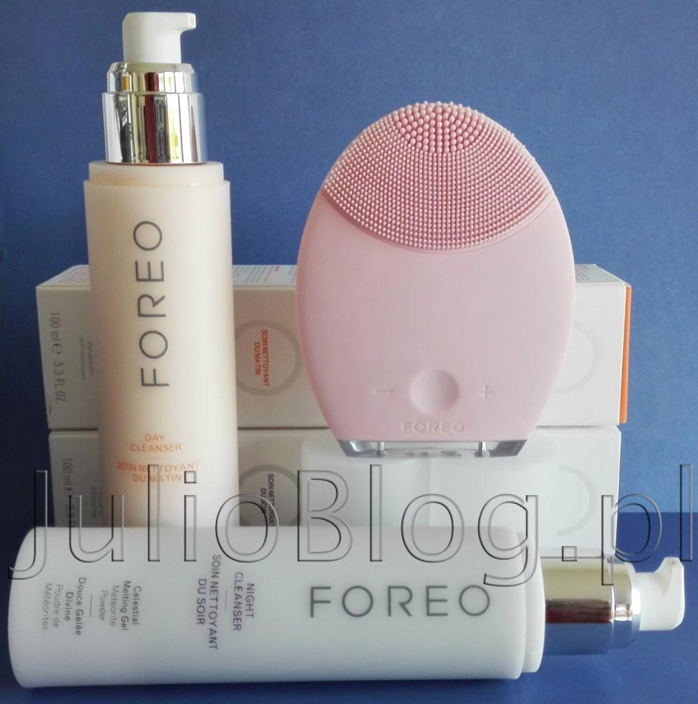 julioblog.pl-FOREO-soniczna-szczoteczka-do-mycia-twarzy-LUNA-płyny-żele-myjące-na-dzień-i-na-noc-oczyszczanie-Wyciąg-z-Moringa-olejek-migdałowy-meteoryt-jogurt-morela-bergamotka