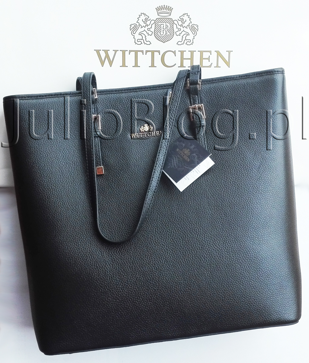 2b4845e6a6516 Czarna torebka Wittchen 82-4-404-1 ze skóry, Lidl 269zł