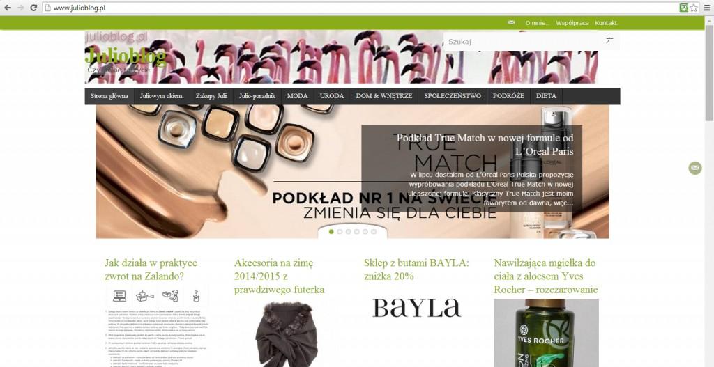 julioblog.pl-screen-strona-główna-z-recenzją-nowy-podkład-True-Match-wrzesień-2015