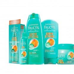 Wzmacniacjący szampon do włosów Garnier Fructis Grow Strong 9,49zł /400ml. Fructis Grow Strong to nowa innowacyjna gama produktów przeciw wypadaniu włosów. Jest to kompletny program wzmacniający który nie tylko zwiększa odporność włosów na wypadanie ale także stymuluje wzrost nowych włosów. Kuracja Odnawiająca dzięki innowacyjnemu składnikowi – Stemoxydine który jest dostępny po raz pierwszy na rynku masowym w Polsce rewitalizuje włosy i powoduje wzrost 1000 nowych włosów w 90 dni. Skuteczne i natychmiastowe działanie produktów Fructis Grow Strong jest dodatkowo wzbogacone wspaniałym owocowym zapachem. Wzmacniacjący szampon do włosów Garnier Fructis Grow Strong 9,49zł /400ml. Wzmacniacjący szampon Garnier Fructis Grow Strong – składniki: Aqua (Water), Sodium Laureth Sulfate, Cocamidopropyl Betaine, Sodium Lauryl Sulfate, Glycol Distearate, Sodium Chloride, Amodimethicone Guar Hydroxypropyltrimonium Chloride, Niacinamide, Saccharum Officinarum Extract (Sugar Cane) Extract, Sodium Benzoate, Sodium Hydroxide, PPG-5-Ceteth-20, Trideceth-6, Salicylic Acid, Camellia Sinensis Leaf Extract, Benzyl Alcohol, Linalool, 2-Oleamido-1,3-Octadecanediol, Pyrus Malus Extract (Apple Fruit) Extract, Carbomer, Pyridoxine HCL, Citric Acid, Cetrimonium Chloride, Citrus Medica Limonum Peel Extract (Lemon Peel) Extract, Hexyl Cinnamal, Amyl Cinnamal, Parfum (Fragrance). (F.I.L C170903/1). Wzmacniacjący szampon do włosów Garnier Fructis Grow Strong 9,49zł /400ml. Wzmacniacjąca odżywka do włosów Garnier Fructis Grow Strong 8.99zł / 200ml. Fructis Grow Strong to nowa innowacyjna gama produktów przeciw wypadaniu włosów. Jest to kompletny program wzmacniający który nie tylko zwiększa odporność włosów na wypadanie ale także stymuluje wzrost nowych włosów. Kuracja Odnawiająca dzięki innowacyjnemu składnikowi – Stemoxydine który jest dostępny po raz pierwszy na rynku masowym w Polsce rewitalizuje włosy i powoduje wzrost 1000 nowych włosów w 90 dni. Skuteczne i natychmiastowe działanie produktów Fr