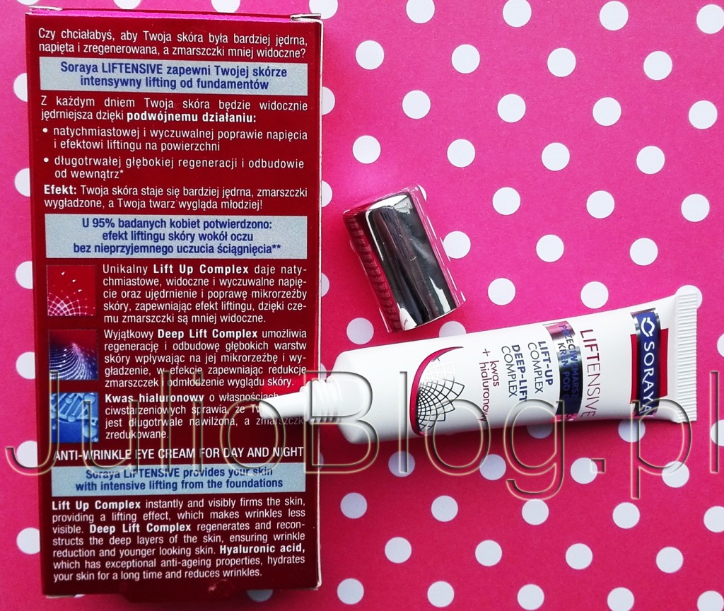 julioblog.pl-blog-julii-Przeciwzmarszczkowy-kem-pod-oczy-na-dzień-i-na-noc-Liftensive-Soraya-19.99zł-tubka-15ml-informacje-opinie-recenzje-działanie-składniki-skład-kwas-hialuronowy