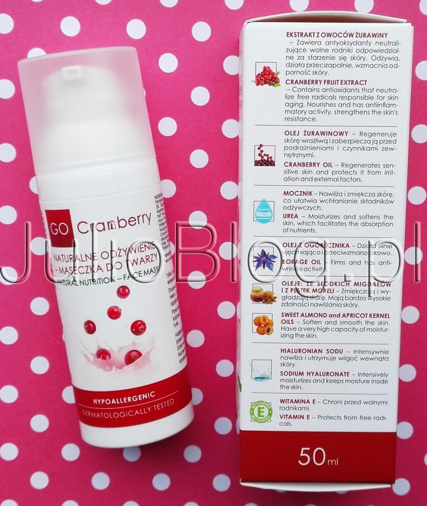 julioblog.pl-blog-julii-naturalne-kosmetyki-naturalna-pielęgnacja-go-cranberry-nova-kosmetyki-Maseczka-regenerująca-do-twarzy-żurawina-mocznik-olejek-ze-słodkich-migdałów-ogórecznik