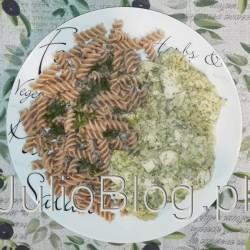 Kurczak w sosie brokułowo – koperkowym. Lubię kurczaka w sosie i bardzo lubię brokuł. Któregoś dnia opracowałam przepis na kurczaka w sosie brokułowo – koperkowym :) Widziałam, że jest w sieci sporo przepisów na kurczaka w śmietanowym sosie. Jednak ten przepis wymyśliłam sama i co więcej, takiej wersji jaką robię nigdzie nie widziałam :) Jeżeli więc macie ochotę przygotować sycącego kurczaka, który absolutnie nie jest suchy i do tego świetnie pasuje do makaronu to… zapraszam! Kurczak w sosie brokułowo – koperkowym. Dodatkową zaletą mojego Kurczaka w sosie brokułowo – koperkowym jest to, że można to danie odgrzewać i nadal jest smaczne, więc bez problemu możecie zrobić obiad na dwa dni :) Składniki potrzebne na 3-4 porcje Kurczaka w sosie brokułowo – koperkowym. Kurczak w sosie. Kurczak z brokułem. Filet z kurczaka z brokułem. Sos brokułowy. Sos koperkowy. Kurczak, filet. JulioBlog.pl blog Julii. Przepisy kulinarne. Dania. Przepis na Kurczaka w sosie brokułowo – koperkowym. JulioBlog.pl Julia Gotuje. Kurczak w sosie brokułowo – koperkowym.