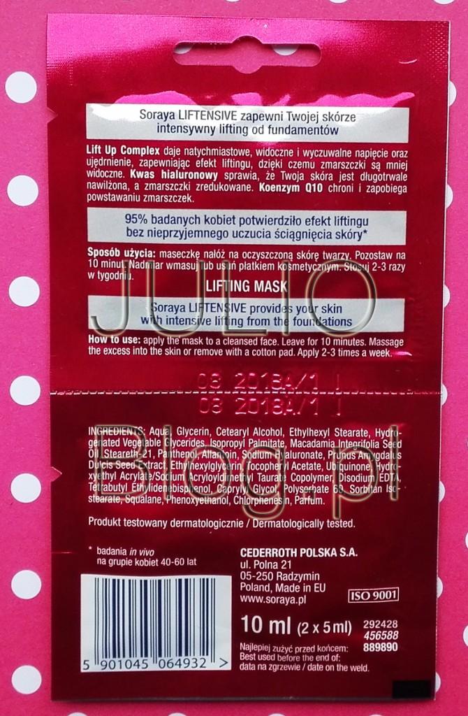 julioblog.pl-blog-juliiliftingująca-maseczka-w-saszetkach-2x5ml-2.90zł-opinia-recenzja-działanie-składniki-skład-recenzja-INCI-jak-działa-10ml-maseczki-ujędrniające-liftin-szybkie-działanie