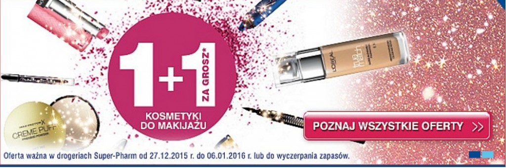 super-pharm-superpharm-promocja-gruszień-2015-styczeń-2015-1+1-za-1-grosz-kosmetyki-do-makijażu-za-jeden-grosz-julioblog.pl-końcoworoczne-promocje-na-kosmetyki-makijaż