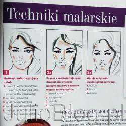 """Konturowanie twarzy: puder brązujący co i jak :) Miesięcznik Twój Styl (Twój Styl, numer 2 (307) luty 2016) – fragment artykułu Izabeli Nowakowskiej o konturowaniu twarzy. Porady i prezentacja produktów: Luminature Bronzing Powder – Deborah (34zł), puder Terra Abronzante – Collistar (125zł), Powder Balls – Pierre Rene (33.99zł), matowy bronzer Skin Match 4 Ever Bronzer – Astor (34,99zł), perełki brązujące Avon (52zł), mineralny puder rozświetlający Joko (15zł), rozświetlający puder Bronze&Shine – Delia (16zł), rozświeltający puder brązujący Radiance Baked Laura Mercier (216zł), pędzel do bronzerów Sephora (119zł). Konturowanie twarzy: puder brązujący co i jak :) Miesięcznik Twój Styl (Twój Styl, numer 2 (307) luty 2016). Puder brązujący Luminature Bronzing Powder – Deborah (34zł), Puder brązujący Terra Abronzante – Collistar (125zł), Puder w kulkach Powder Balls – (33.99zł), Matowy bronzer Skin Match 4Ever Bronzer – Astor (34,99zł), Perełki brązujące Avon (52zł), Mineralny puder rozświetlający Joko (15zł), Rozświetlający puder Bronze&Shine – Delia (16zł), Rozświeltający puder brązujący Radiance Baked Laura Mercier (216zł), pędzel do bronzerów Sephora (119zł). W tekście zaprezentowanych jest też kilka kosmetyków brązujących. ardzo fajną, a przy tym prostą instrukcję aplikacji pudru brązującego znalazłam w najnowszym numerze Twojego Stylu (Twój Styl, numer 2 (307) luty 2016). Twój Stylmagazyn TS numer 2 (307) luty 2016 Miesięcznik Twój Styl (Twój Styl, numer 2 (307) luty 2016). Autorka tekstu – Izabela Nowakowska – do aplikacji pudru brązującego radzi nie używać pędzelka do różu (ups! ;)), ale właśnie węższego i płaskiego pędzelka typu """"koci języczek"""". Proponowany w tekście jest Pędzel do bronzerów Sephora. Jeżeli go znacie – dajcie proszę znać, czy Waszym zdaniem jest wart wydania 119zł. Może okaże się jeszcze lepszy? U mnie do aplikacji pudru brązującego dobrze sprawdza się też mały pędzelek kabuki Isa Dora, ale niedrogi pędzelek Elite #47 jest naprawdę super. W tek"""