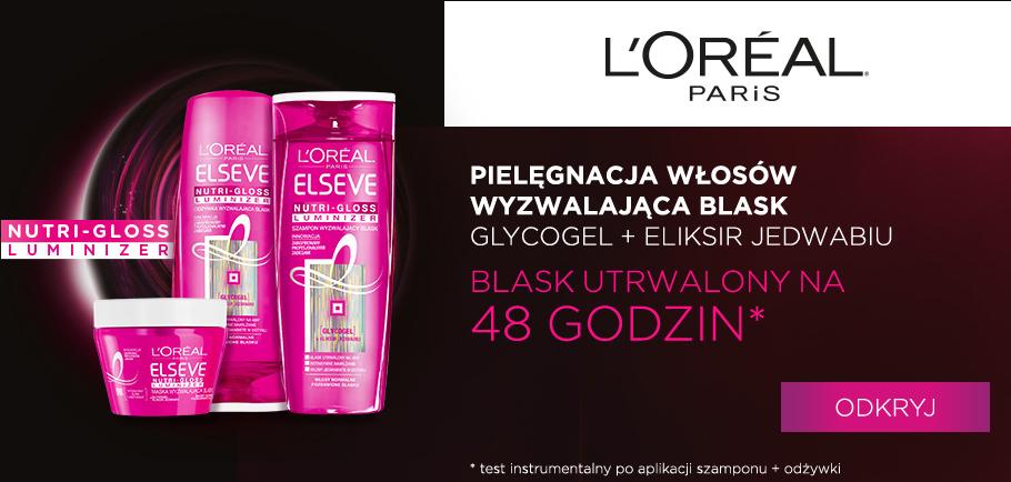 elseve-nutri-gloss-luminizer-szampon-odżywka-maska-do-włosów-wyzwalająca-blask-włosów-loreal-paris-nowa-linia-seria-kosmetyków-do-włosów-wysokoporowatych