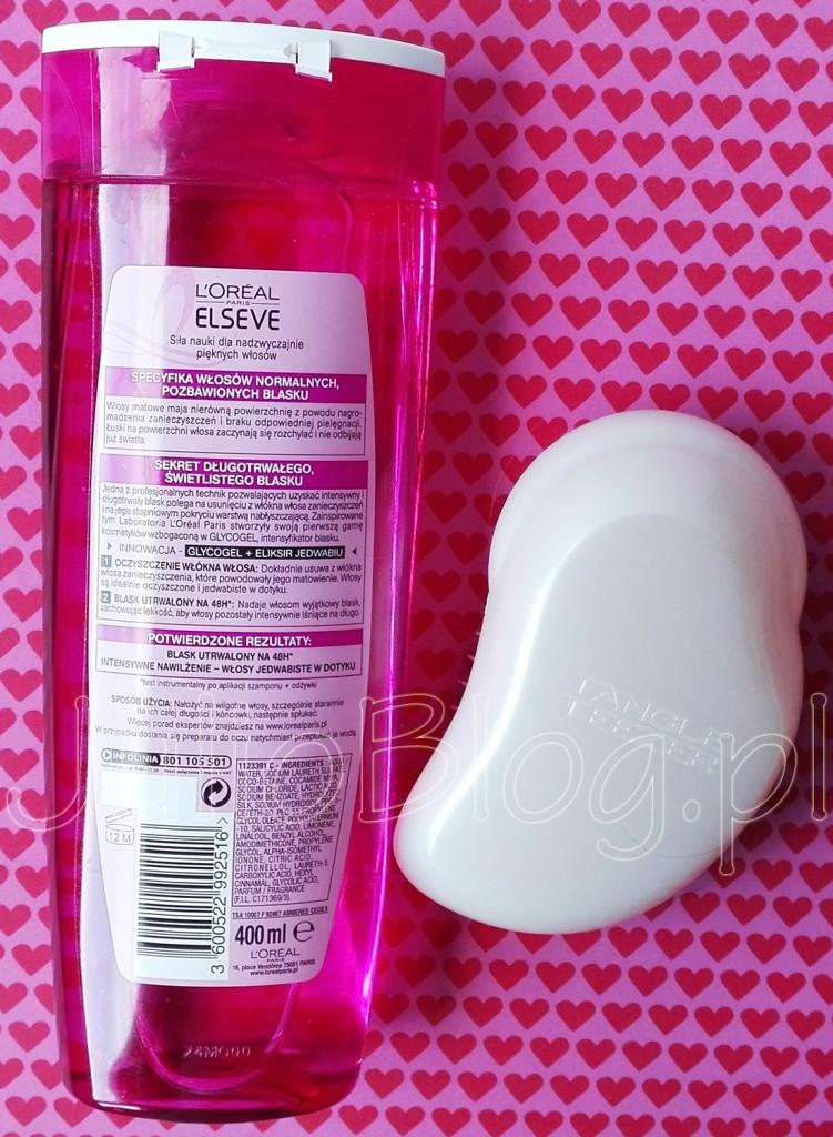 julioblog.pl-blog-julii-LOREAL-ELSEVE-NUTRI-GLOSS-LUMINIZER-szampon-do-włosów-wyzwolenie-blasku-Cement-Ceramidy-Glycocel-jedwab-TANGLE-TEEZER-ORYGINAL-Candy-Floss